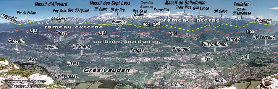massif de belledonne carte Belledonne : massif de Belledonne