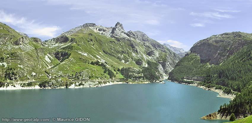 Tignes les boisses lac du chevril - Lac du chevril ...